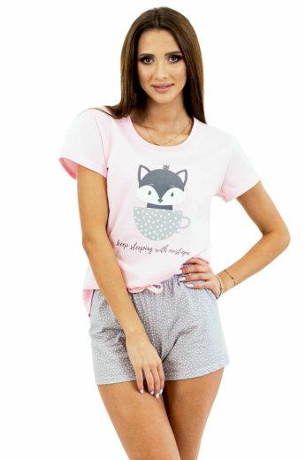 Kuba Dámské pyžamo Cat Princess růžové