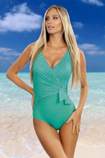 Self Jednodílné plavky Layla zelené