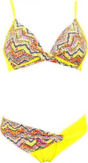 Primo Dámské plavky Adina žluté s vzorem