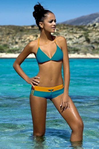Lorin Dámské sportovní plavky Artis modré oranžové