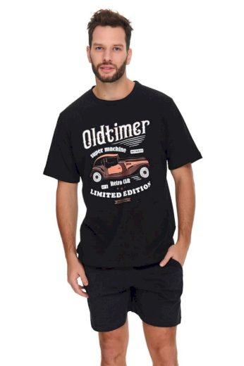 DN Nightwear Pánské pyžamo Oldtimer černé