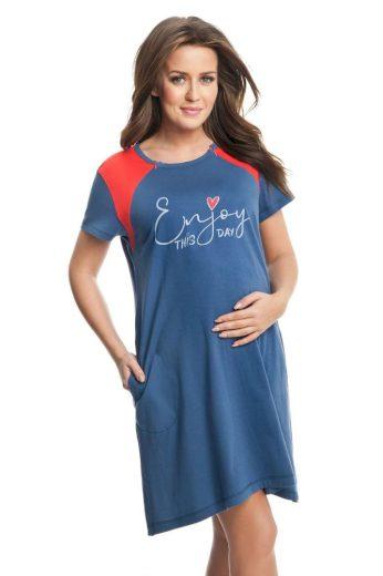 Dorota Těhotenská a kojicí noční košile Andrea modrá