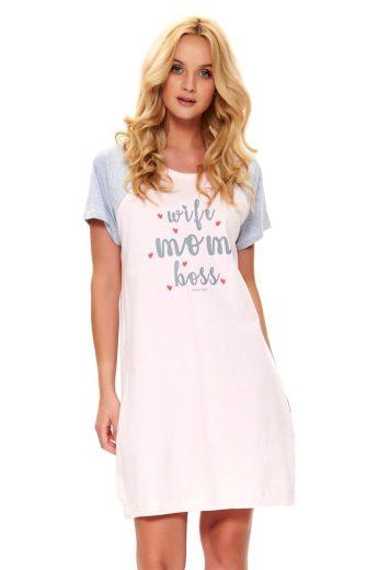 DN Nightwear Mateřská noční košile Love mom růžová