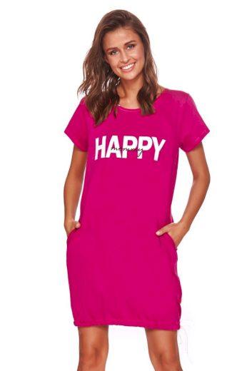 DN Nightwear Mateřská košile Happy mommy fuchsie zip