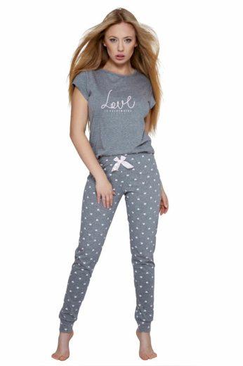 Sensis Dámské pyžamo Lucia šedé
