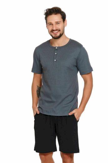 DN Nightwear Pánské pyžamo Wilson šedé