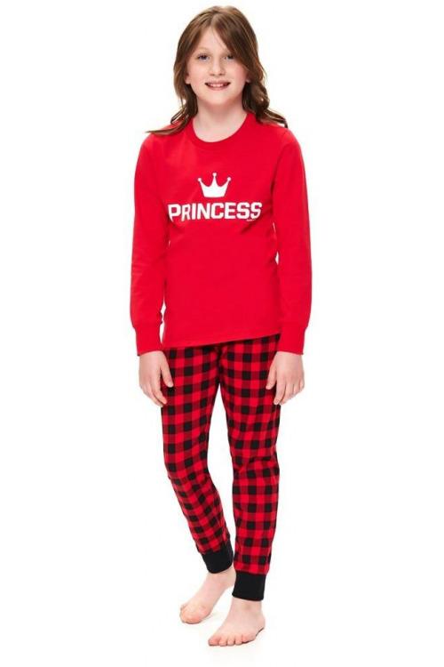 Dívčí pyžamo Princess červené
