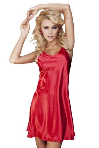 Saténová noční košilka Karen červená