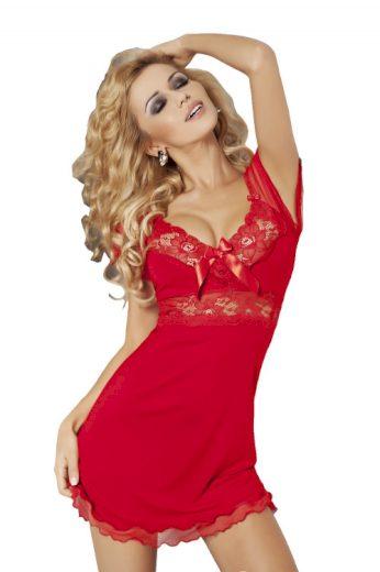 Dámská viskózová noční košilka Paulina červená