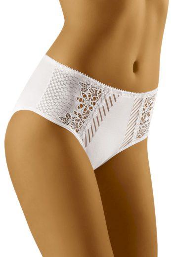 Dámské kalhotky s vyšším pásem ECO-RI bílé