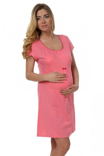 Těhotenská noční košile Dagna korálová