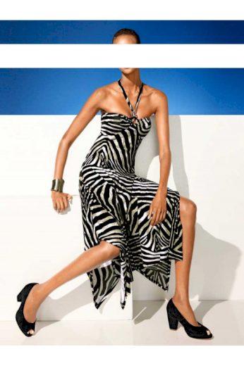 Zeštíhlující cípové šaty CLASS INTERNATIONAL za krk