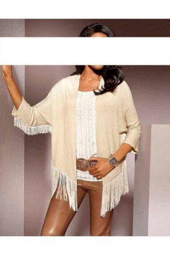 Dámský pletený svetr s třásněmi S. Madan
