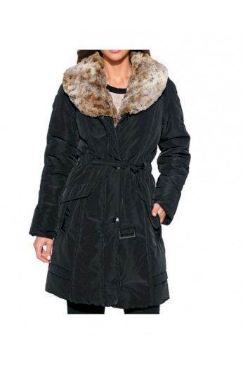 Funkční dámský kabát se tkanou kožešinou, Class International