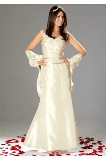 Svatební šaty levně, trojdílné svatební šaty korzet, sukně a štola (vel.38 skladem)