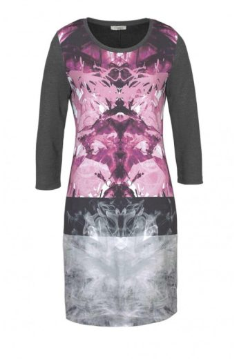 Šaty s potiskem, Vivance Collection (vel.42 skladem)