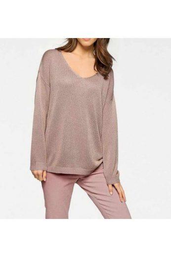 Třpytivý svetr oversize, Linea Tesini