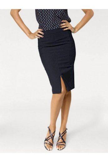 Úzká pouzdrová tmavě modrá sukně, Patrizia Dini (vel.34 skladem)