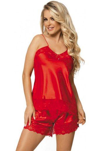 Červené saténové pyžamo Brenda