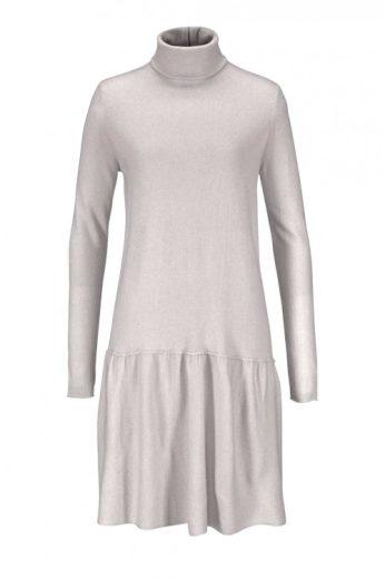 Stefanel, pletené vlněné šedé šaty s kašmírem