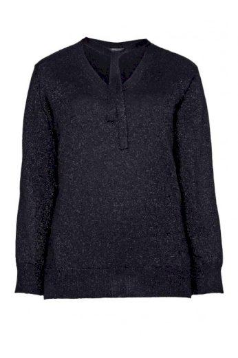 Slabý černý svetr s metalickými vlákny, Anna Scholz