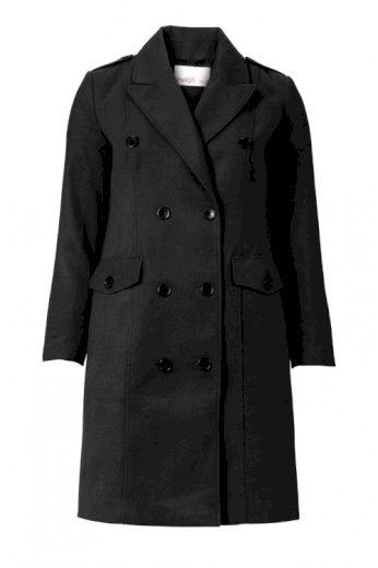 Černý dámský kabát, Sheego