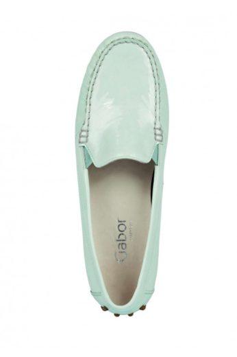 GABOR, dámské kožené lakované slipper, kožené dámské mokasíny (vel.38 skladem)