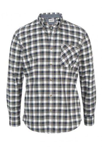 Timberland, pánská bavlněná kostkovaná košile