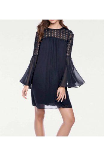 Šifonové šaty s krajkou, Linea Tesini