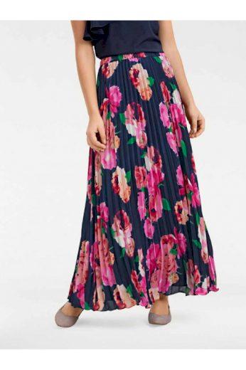 Dlouhá plisovaná sukně s květinovým vzorem, Ashley Brooke (vel.36 skladem)