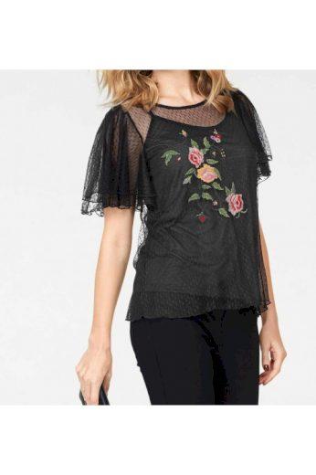 Vyšívané síťované triko s topem Layden, Vero Moda