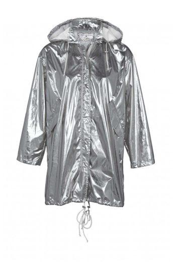 Stříbrná dámská bunda, dámská parka ve stříbrné barvě, Rick Cardona (skladem)