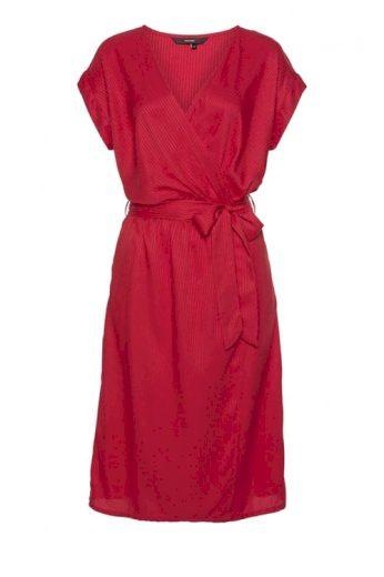 VERO MODA, červené zavinovací šaty Ally