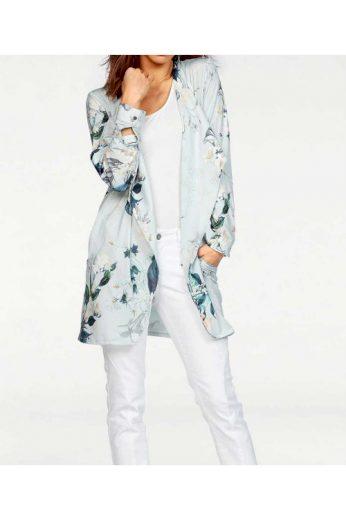 Lehký dámský žerzejový kabát také v nadměrné velikosti, Laura Scott (vel.36 skladem)