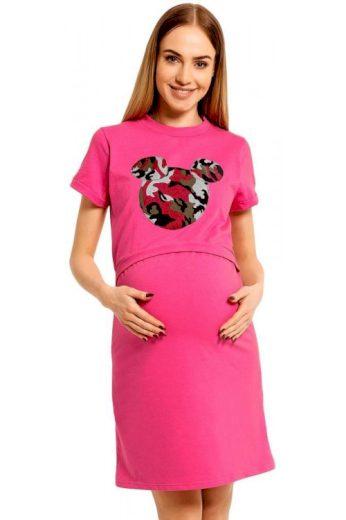 Kojicí noční košile Majka růžová