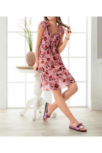 Letní šaty s květinovým potiskem, Linea Tesini (vel.36 skladem)