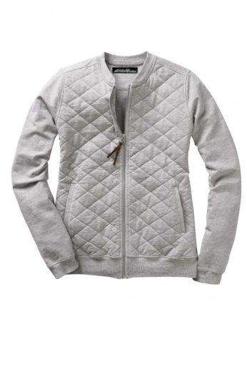 Prošívaná dámská tepláková bunda na zip, Eddie Bauer