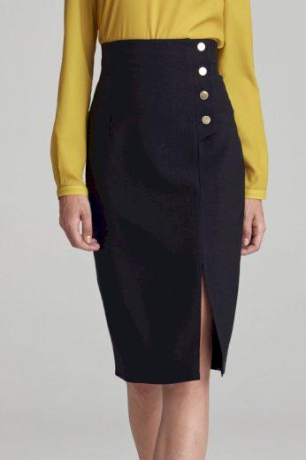 Dámská pouzdrová sukně s rozparkem a knoflíky, Nife (vel.S/36 skladem)