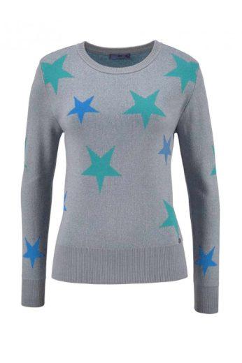 Dívčí svetr, svetr z jemného pleteného materiálu AJC s hvězdami
