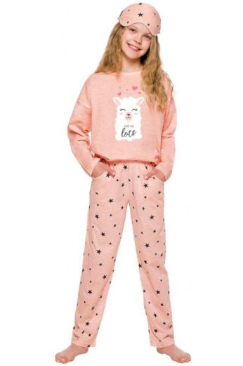 Dívčí pyžamo Sofie růžové s lamou