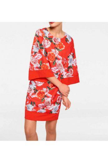 Šaty s potiskem květinovým vzorem, Rick Cardona