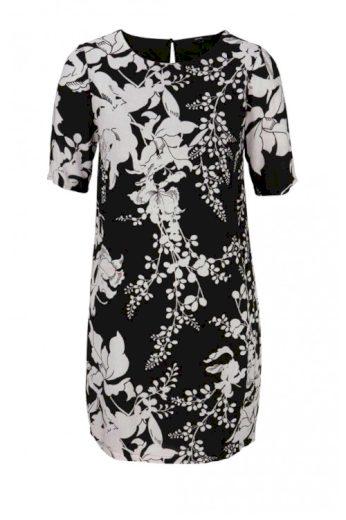 Černobílé rovné šaty VERO MODA model Kana Gabby