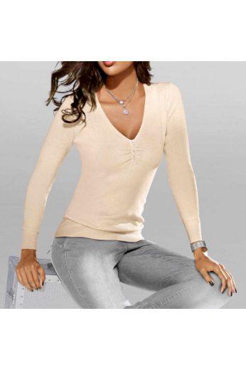 Kvalitní svetr z bavlny a hedvábí, Patrizia Dini (vel.34 skladem)