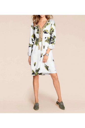 Šaty s potiskem květin boho styl, Rick Cardona (vel.36,50 skladem)