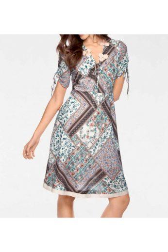 Šaty s potiskem drobnými kvítky millefleurs, Linea Tesini