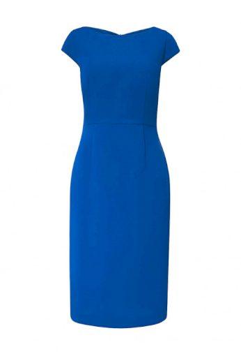 HALLHUBER, pouzdrové dámské šaty v royal modré