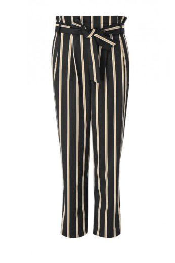 Dámské pruhované paperbag kalhoty, HALLHUBER