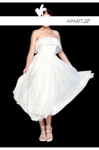 Stylové krémově bílé svatební nebo společenské šaty, APART