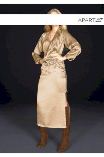 Luxusní hedvábné šaty, šaty z hedvábného saténu, APART