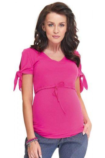 Těhotenská a kojicí halenka Sumu růžová